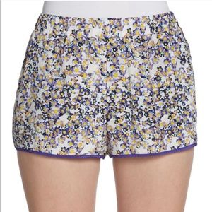 PATTERSON J KINCAID Silk Floral Pull-on Shorts